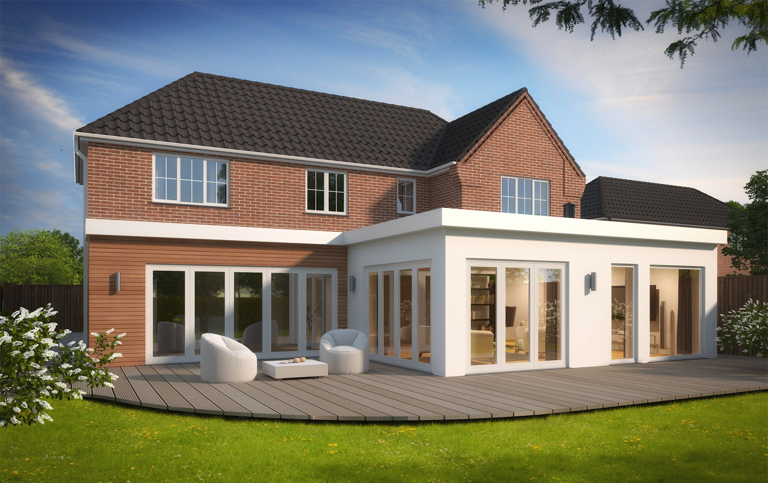 Fancy Dining Room Bespoke Rear Extension Lincoln